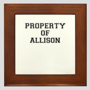 Property of ALLISON Framed Tile