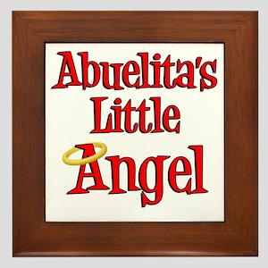 Abuelitas Little Angel Framed Tile