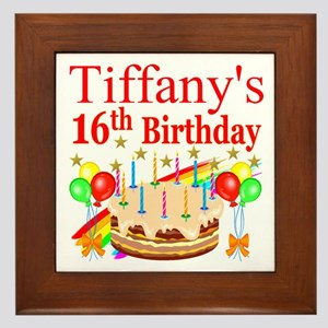 PERSONALIZED 16TH Framed Tile