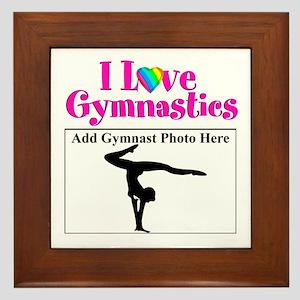 GYMNAST LOVE Framed Tile