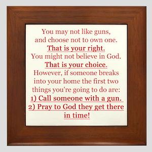 Pro Gun Quote Framed Tile