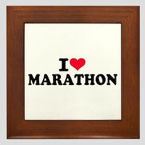 I love Marathon Framed Tile