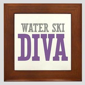 Water Ski DIVA Framed Tile
