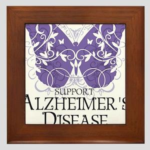 Alzheimers-Butterfly Framed Tile