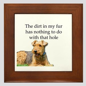 Airedale Sees no connection between hi Framed Tile