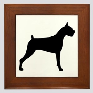 Boxer Dog Framed Tile