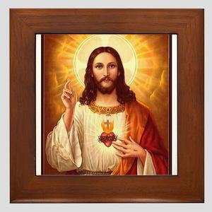 Sacred Heart of Jesus Framed Tile