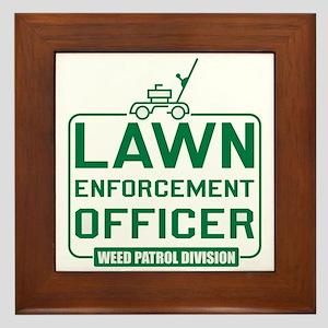 Lawn Enforcement Officer Framed Tile