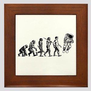 Astronaut Evolution Framed Tile