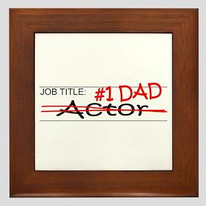 Job Dad Actor Framed Tile
