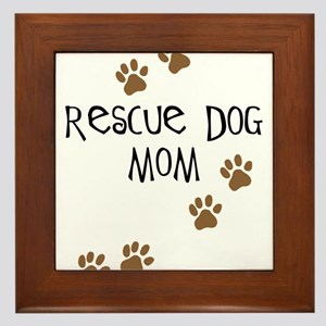 Rescue Dog Mom Framed Tile