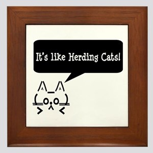 It's Like Herding Cats! Framed Tile
