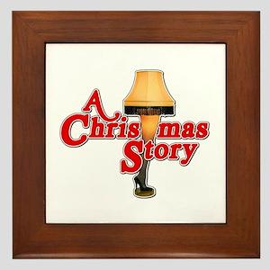 A Christmas Story Movie Lamp Framed Tile