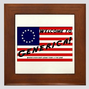 Generica USA Framed Tile