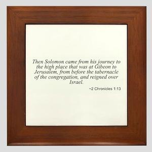 2 Chronicles 1:13 Framed Tile