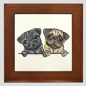 Pug Pals Framed Tile