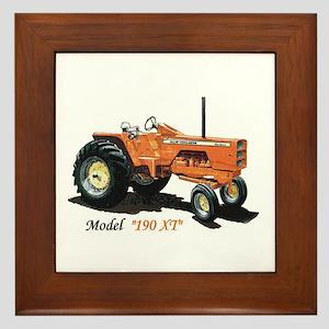 Antique Tractors Framed Tile