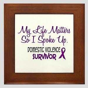 Domestic Violence Survivor 3 Framed Tile