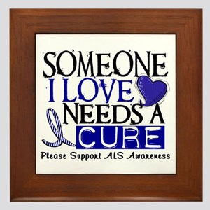 Needs A Cure ALS T-Shirts & Gifts Framed Tile