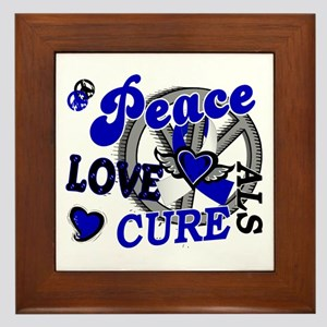 Peace Love Cure ALS 2 Framed Tile