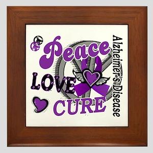 Peace Love Cure 2 Alzheimers Framed Tile