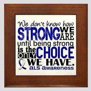ALS HowStrongWeAre Framed Tile