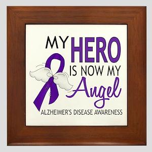 Alzheimers Hero Now My Angel Framed Tile