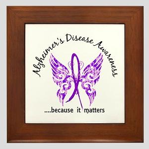 Alzheimer's Disease Butterfly 6.1 Framed Tile