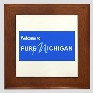 Welcome to Pure Michigan Framed Tile