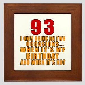 93 Birthday Designs Framed Tile