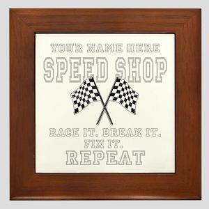 Racing Speed Shop Framed Tile