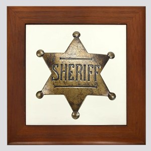 Sheriff -  Framed Tile