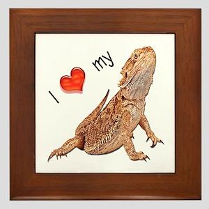 I luv my Bearded Dragon Framed Tile