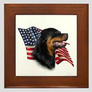 Rottweiler Flag Framed Tile