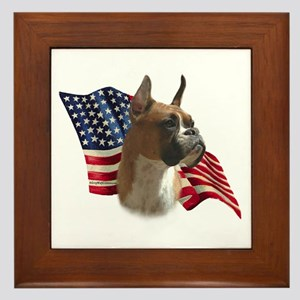 Boxer Flag Framed Tile