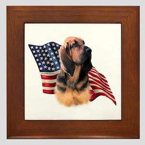 Bloodhound Flag Framed Tile