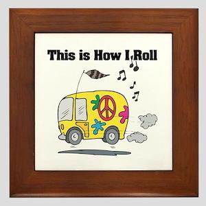 How I Roll (Hippie Bus/Van) Framed Tile