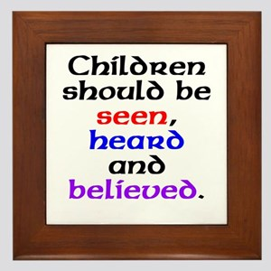 Seen, heard & believed Framed Tile