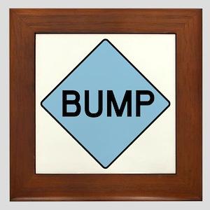 BABY BUMP (BLUE) Framed Tile