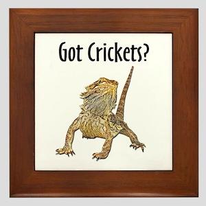 Bearded Dragon Got Crickets Framed Tile