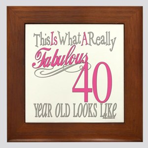 40th Birthday Gifts Framed Tile