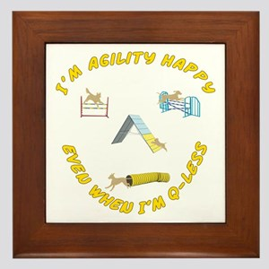 Agility Happy Framed Tile
