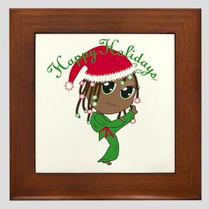 Kicking Spirit Happy Holidays A Framed Tile