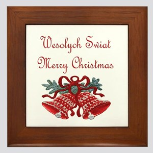 Polish Christmas Framed Tile