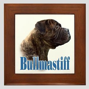 Bullmastiff(brindle)Name Framed Tile