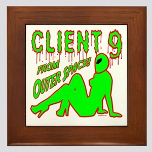 Client 9 From Outer Space Framed Tile