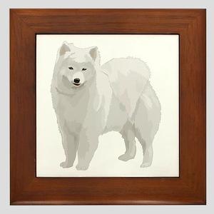 Beautiful Samoyed Framed Tile