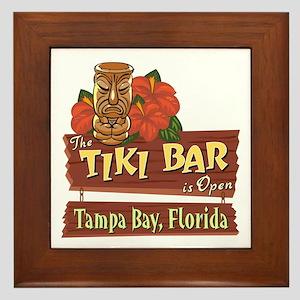 Tampa Bay Tiki Bar - Framed Tile