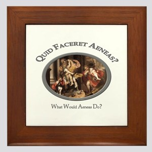 What Would Aeneas Do? Framed Tile
