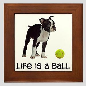 Boston Terrier Life Framed Tile